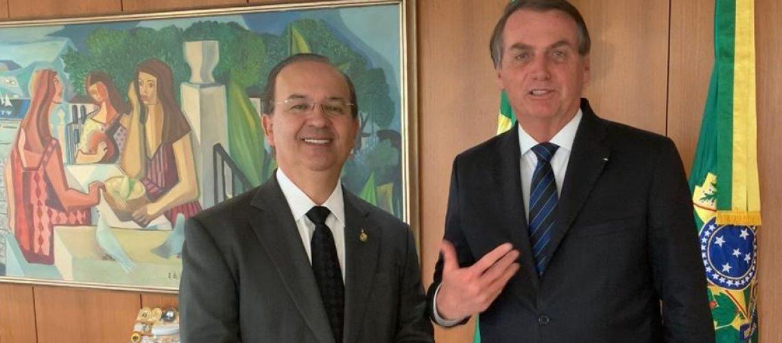 Senador Jorginho Mello e o Presidente Jair Bolsonaro