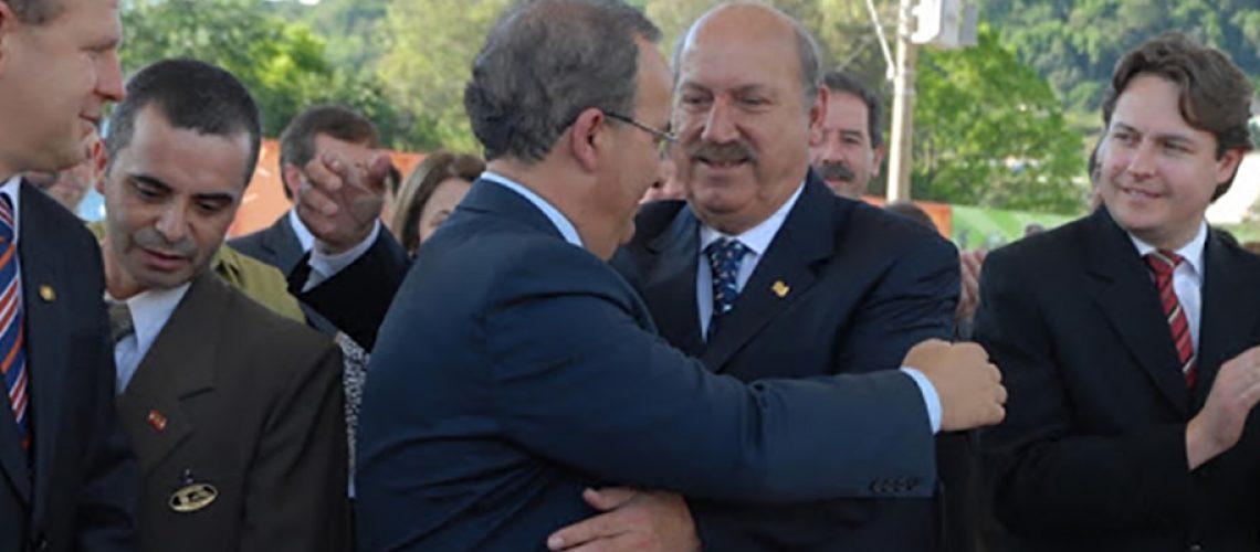 Jorginho Mello usou suas redes para o homenagear um dos maiores nomes da história da política catarinense/Foto: Divulgação Internet