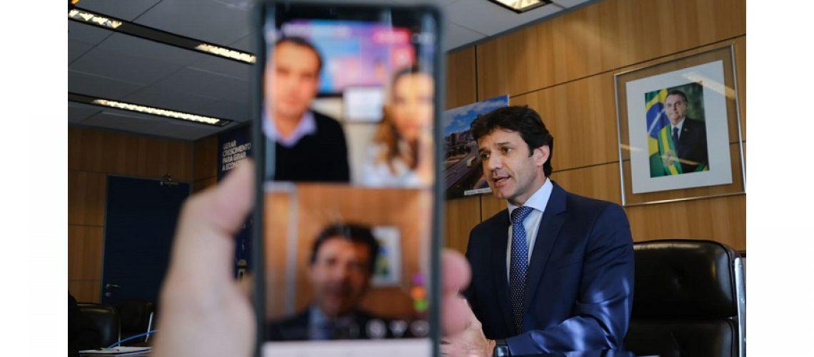 O ministro do Turismo Marcelo Álvaro Antônio participou da quarta edição do Festuris Live/Foto: Roberto Castro/MTur