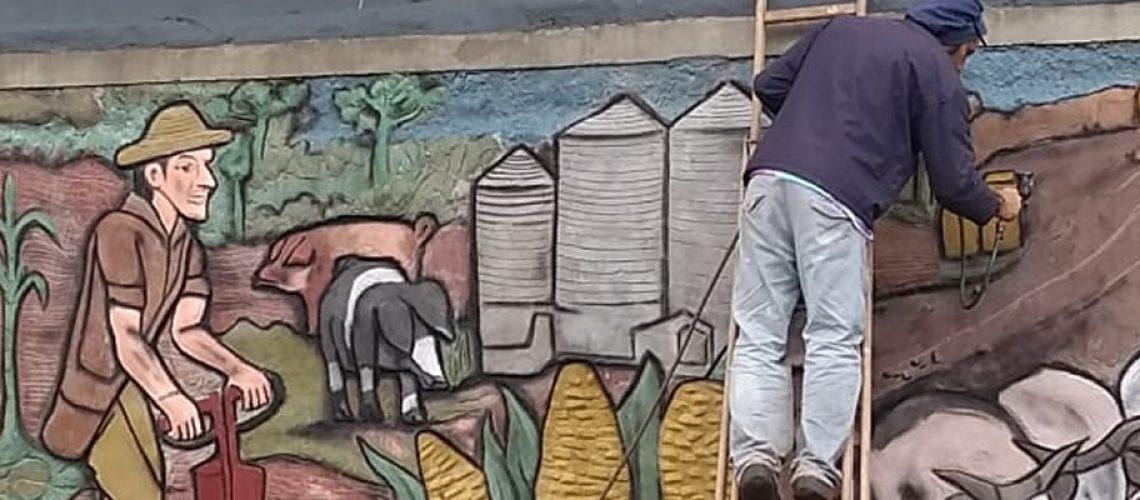 A obra foi concluída recentemente dando um novo visual para quem visita Pinheiro Preto/Foto: Divulgação Internet