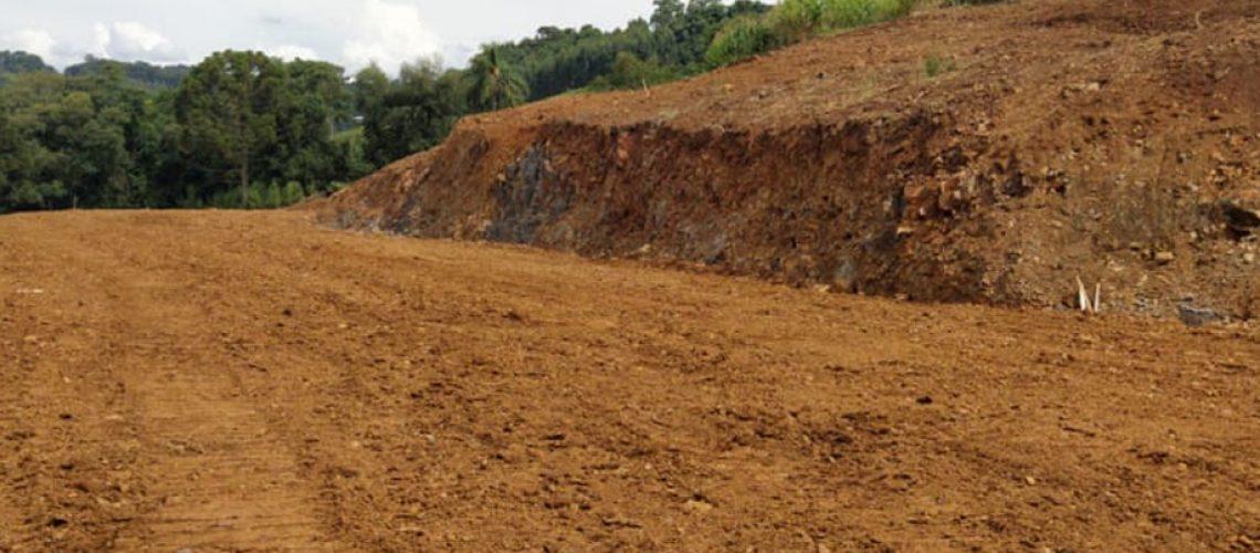 Foi realizada recentemente a escavação para uma granja de suínos na linha Santo Isidoro/Foto: Assessoria de Imprensa