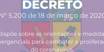 As orientações e medidas emergenciais são para combater a proliferação do coronavírus/Foto: Assessoria de Imprensa