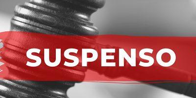 A suspensão se dá por conta do decreto estadual 525/2020