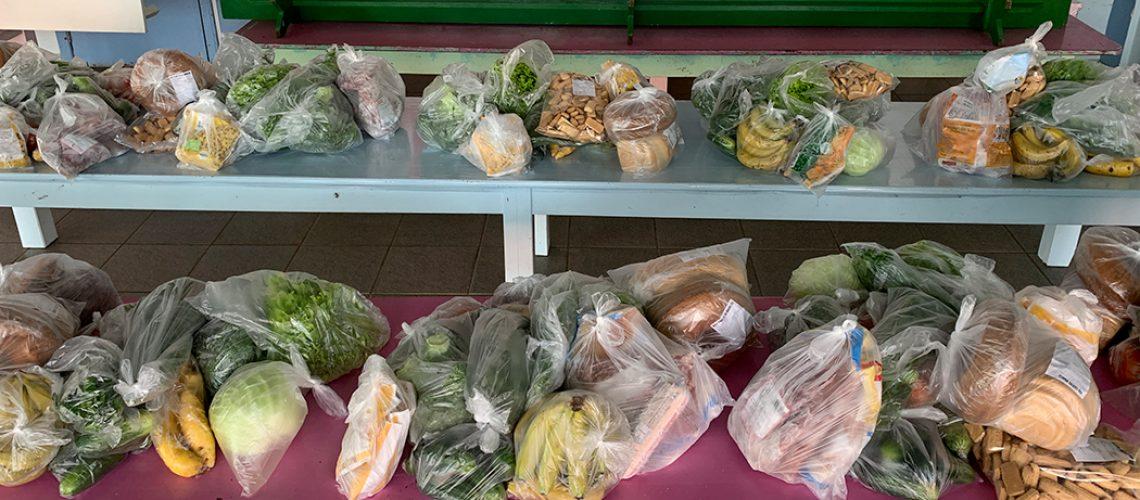 O Kit foi composto por cerca de 1 kg de cada alimento/Foto: Assessoria