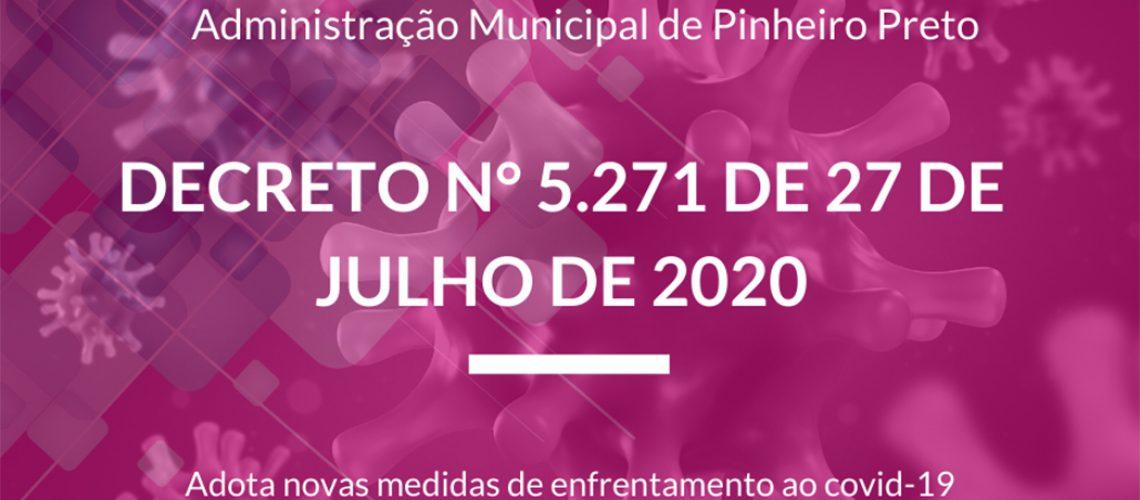 Administração Municipal de Pinheiro Preto adotou novas medidas de enfrentamento ao vírus/Foto: Assessoria