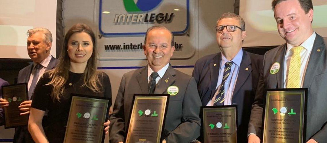 Jorginho Mello foi eleito o melhor Senador do Brasil. Jorginho está em seu primeiro ano como Senador/Foto: Assessoria de Imprensa