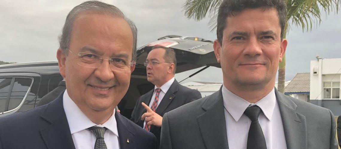 Senador Jorginho Mello e o Ministro da Justiça