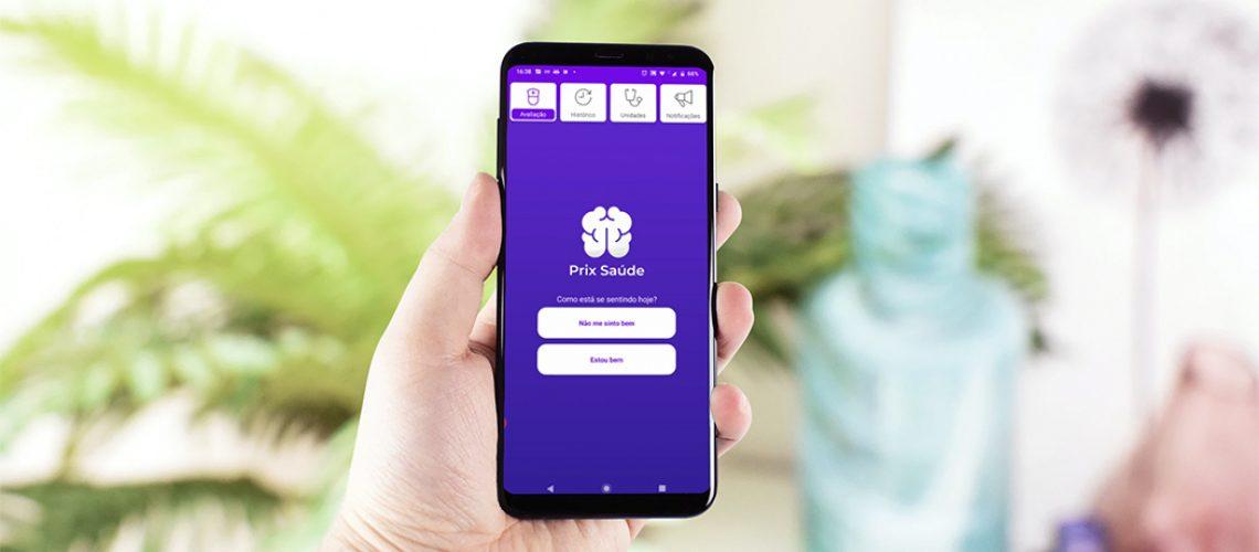 o Prix Saúde que é um aplicativo gratuito que monitora diariamente a saúde do cidadão/Foto:  Prix Tech