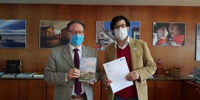 Presidente da Famiglia Bellunese di Iomerê e da Região Turística Vale dos Imigrantes, Yuri Piccoli Hentz, esteve em Curitiba, para reuniões no Consulado Geral da Itália