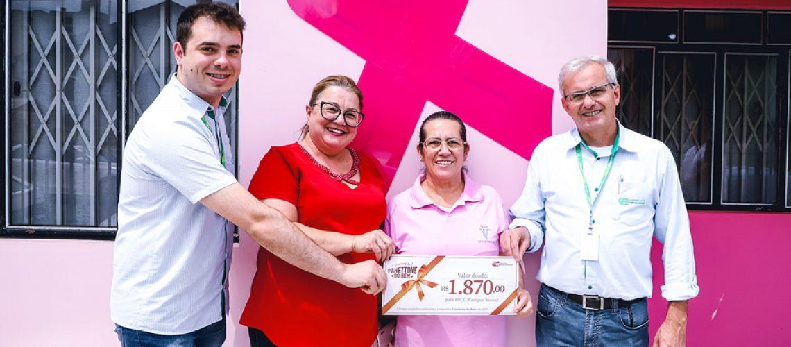 A Rede Feminina de Combate ao Câncer de Campos Novos recebeu R$ 1.870