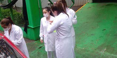 Trabalho realizado durante o Drive-thru de vacinação em Joaçaba