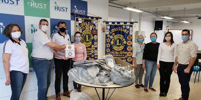 HUST recebe doações de EPIs do Lions Clube Joaçaba Centro e Cruzeiro/Foto: Assessoria