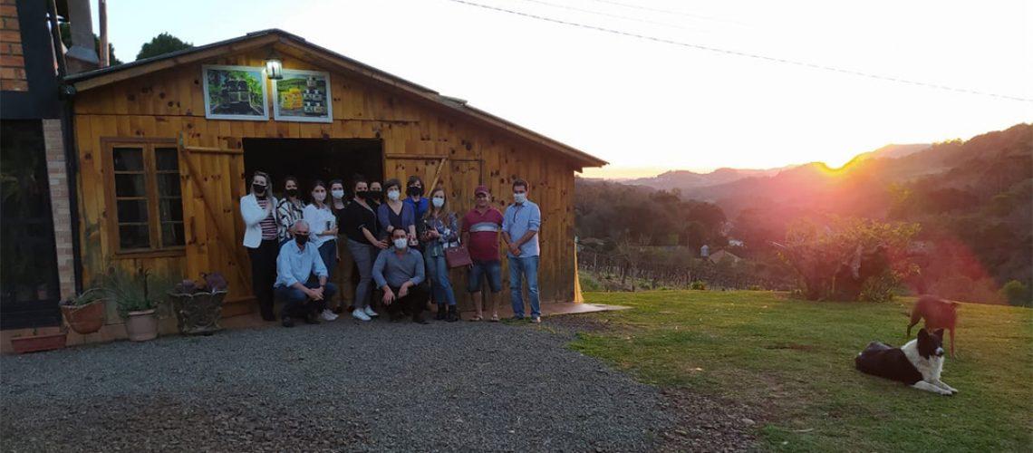 No encontro em Tangará o grupo visitante conheceu alguns locais que integram o Circuito de Caravaggio
