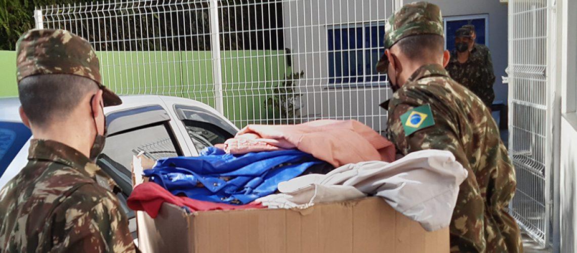 Tiro de Guerra de Joaçaba realizou uma campanha de arrecadação de donativos/Foto: Assessoria de Imprensa