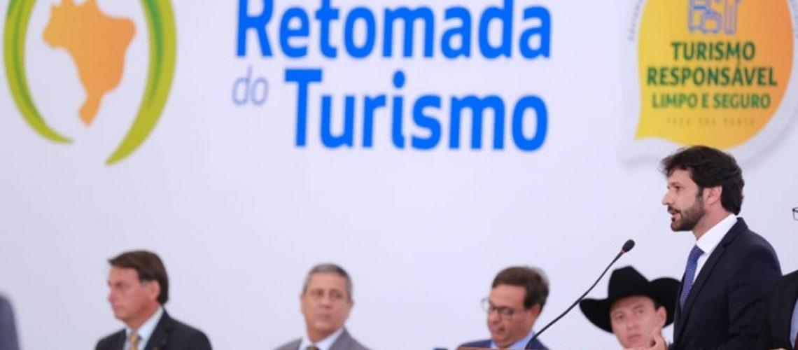 Cerimônia no Palácio do Planalto marcou lançamento da aliança nacional Retomada do Turismo/Foto: Roberto Castro/Mtur