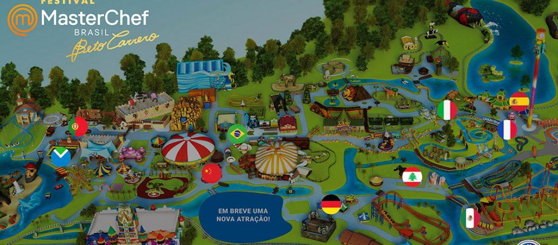 Serão 10 estações distribuídas pelo parque
