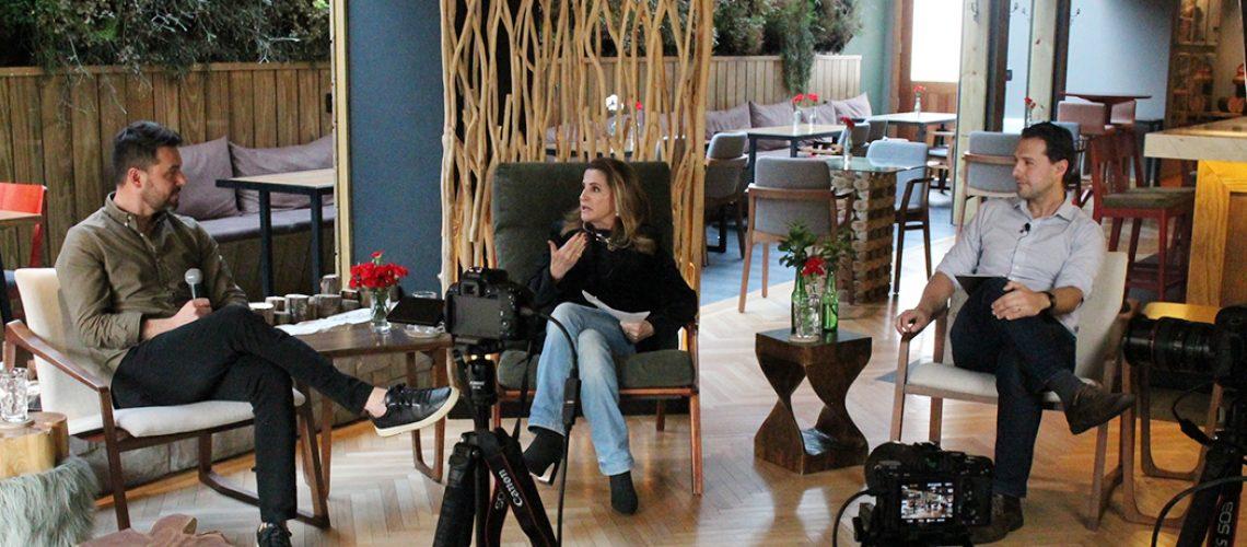 Marta Rossi e Eduardo Zorzanello, CEOs do Festuris Connection, conduziram a transmissão/Foto: Moisés Castilhos