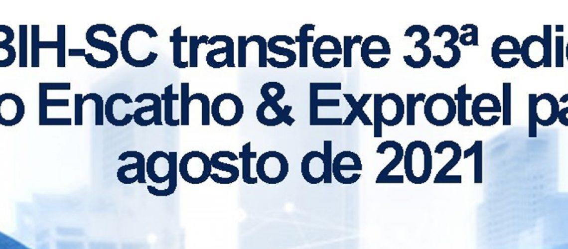 33ª edição do Encatho & Exprotel será realizada de 3 a 5 de agosto de 2021/Foto: Assessoria de Imprensa