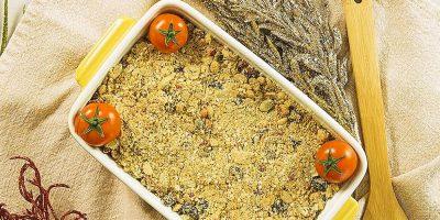 Receita de farofa natalina com frutas e sementes